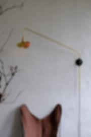 large wall lamp swing potence brass finish french design