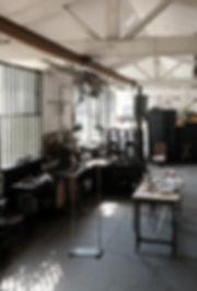 skylight  french craftsman atelier light fixture workshop handmade