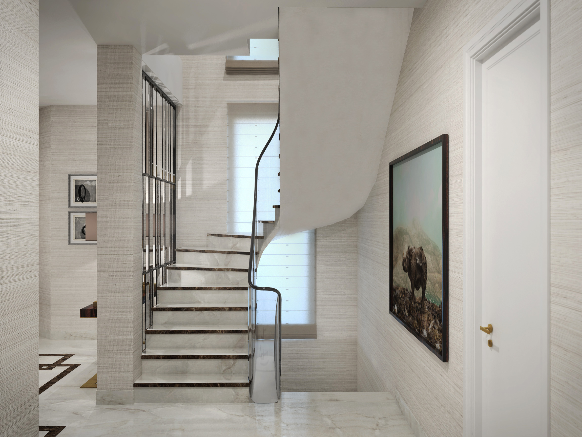 Gelf-Villa_EG_Ansicht-Treppenaufgang