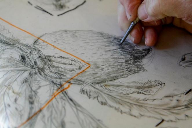 lakeland-drypoint etching in progress.jp