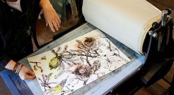 Pulling a first print-Lakeland