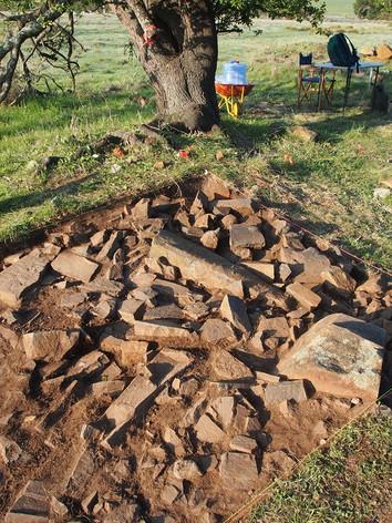 Archaeology dig site Kerry Lodge Tasmani