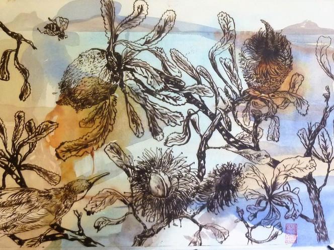 lakeland_Banksia and Blue Faced Honeyeater Faced Honey