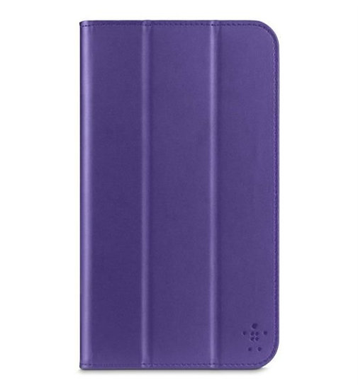 Belkin Smooth Tri-Fold Cover With Stand For Samsung Galaxy Tab 3 8.0 In Purple