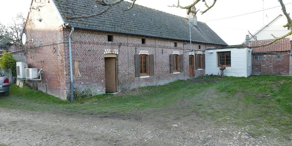 Visite préalable à la Vente aux Enchères d'un ancien corps de ferme à St Rémy de Boscrocourt