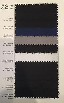 Duvetyne Fabric Sample Card