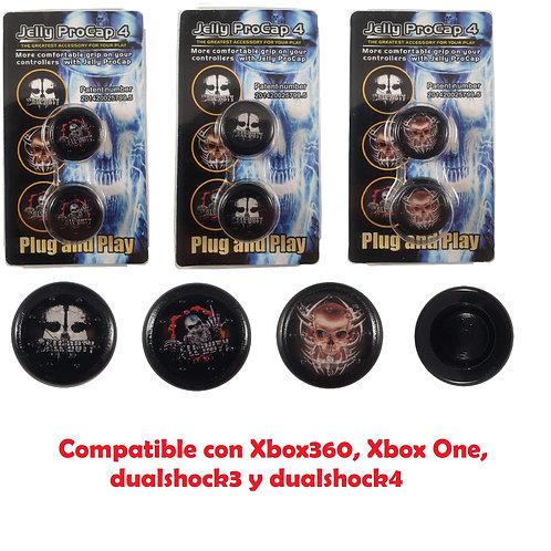 Fundas de stick calaveras mando Xbox360/XboxONE/PS3/PS4