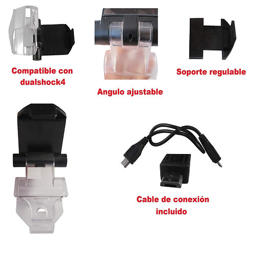 Soporte para smartphone mando PS4