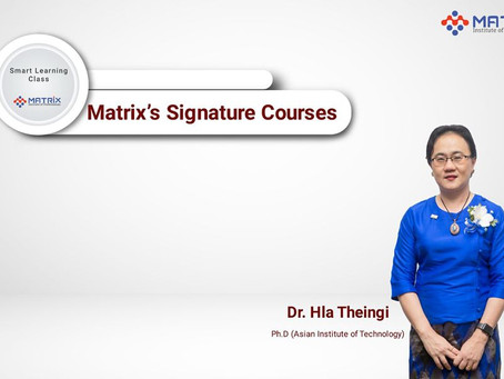 Matrix Signature Courses from Smart Learning Class