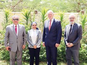 السفير الهولندي بالقاهرة يزور المركز المصري الألماني للوظائف والهجرة