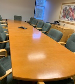 Refinished Conference table for the city of Tamarac, SFL - Before