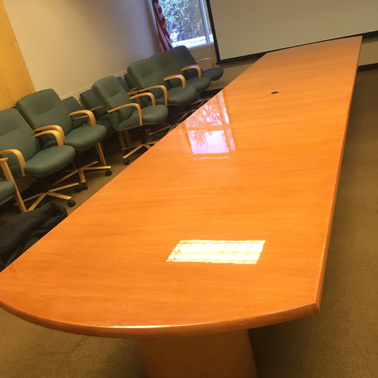 Refinished Conference table for the city of Tamarac, SFL - After