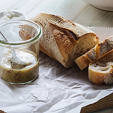 Foccacia Garlic Bread With Dips