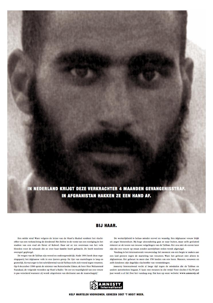 Amnesty International Verkrachter (ad) Gijs de Kogel