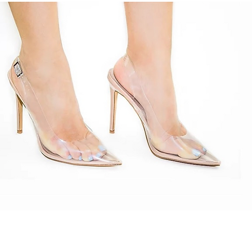 Clear Lucite Pointy Toe Stiletto Slingback