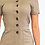 Thumbnail: Short Sleeved Button Up Jumpsuit