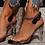 Thumbnail: Clear Lucite Criss Cross Slingback Shoe
