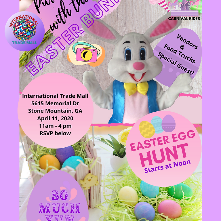 Easter egg hunt and Pictures with the Easter Bunny