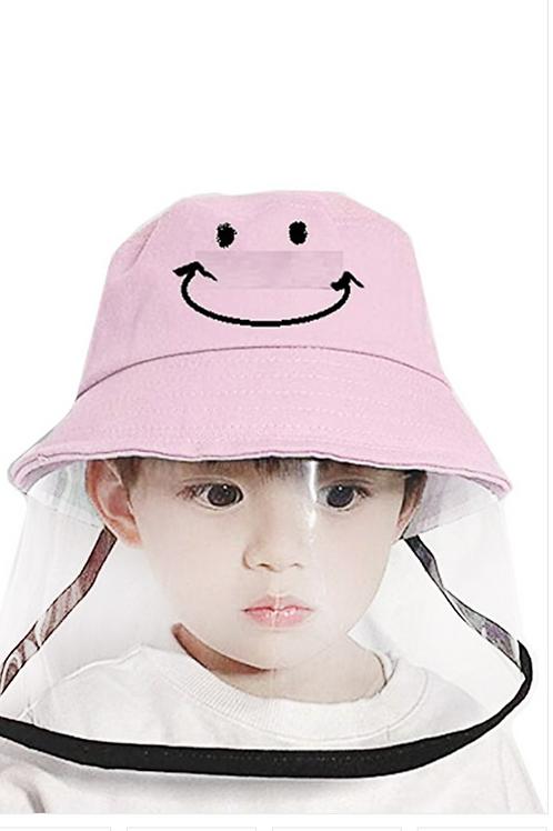 Kids Bucket Hat with Detachable Shield
