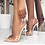 Thumbnail: Clear Lucite Pointy Toe Stiletto Slingback