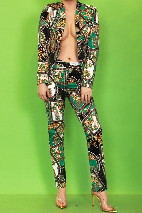 Printed Green Jacket