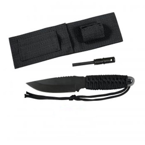 Paracord Knife With Fire Starter