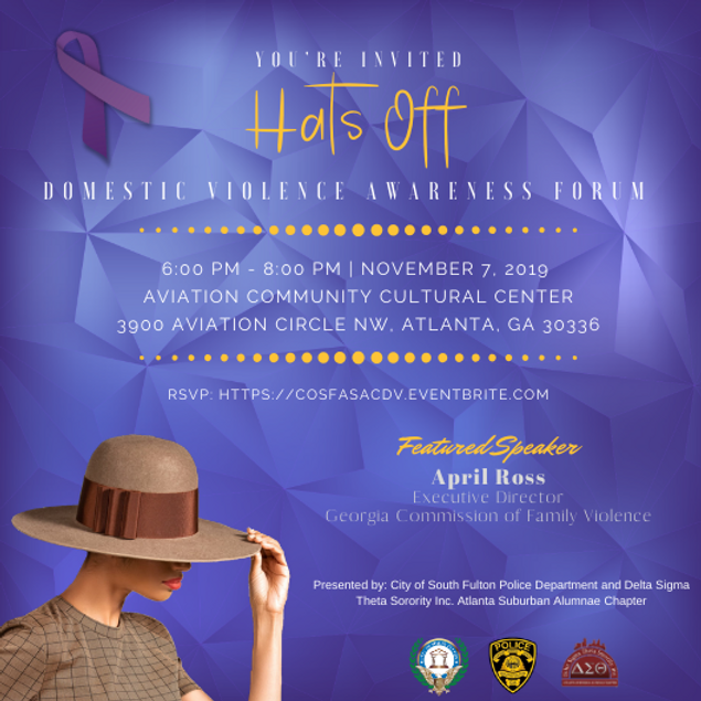 Hats Off   Domestic Violence Event