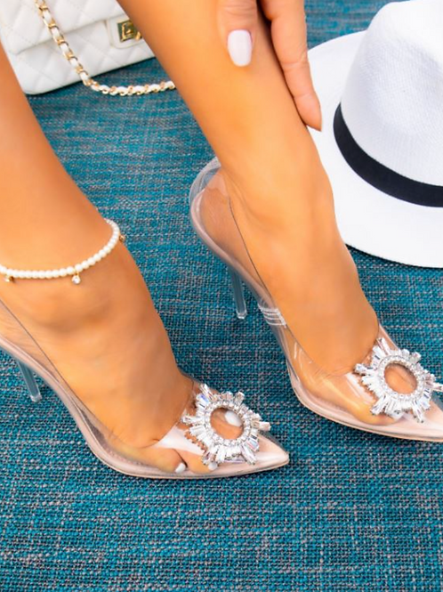 Clear Pump with Embellishment