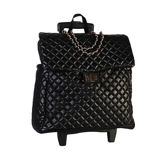 Quilted Travel Rolling Luggage
