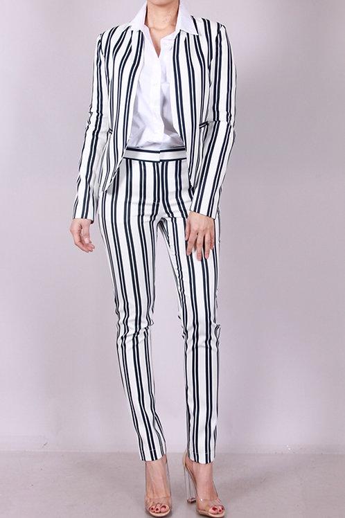 Stripe Pant Suit