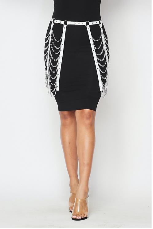 Chain Detail Skirt Belt