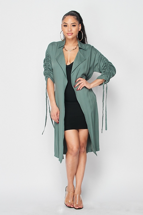 Ruched Sleeve French Jacket