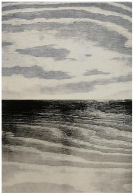 Anne Kari Ødegård / Horisont, grå / Tresnitt / 29 x 41 cm / kr 3000