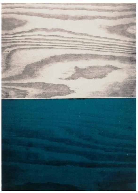 Anne Kari Ødegård / Horisont, blå / Tresnitt / 29 x 41 cm / kr 3000
