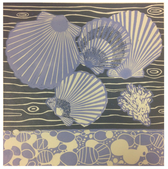 Rosanna Vio / Circles and lines / 16,5 x 16,5 cm / linotrykk / 1700 kr