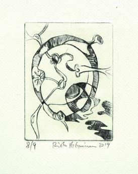 Risto Holopainen / Ringen / Linoleumsnitt / 9 x 13 cm / Kr  900 kr