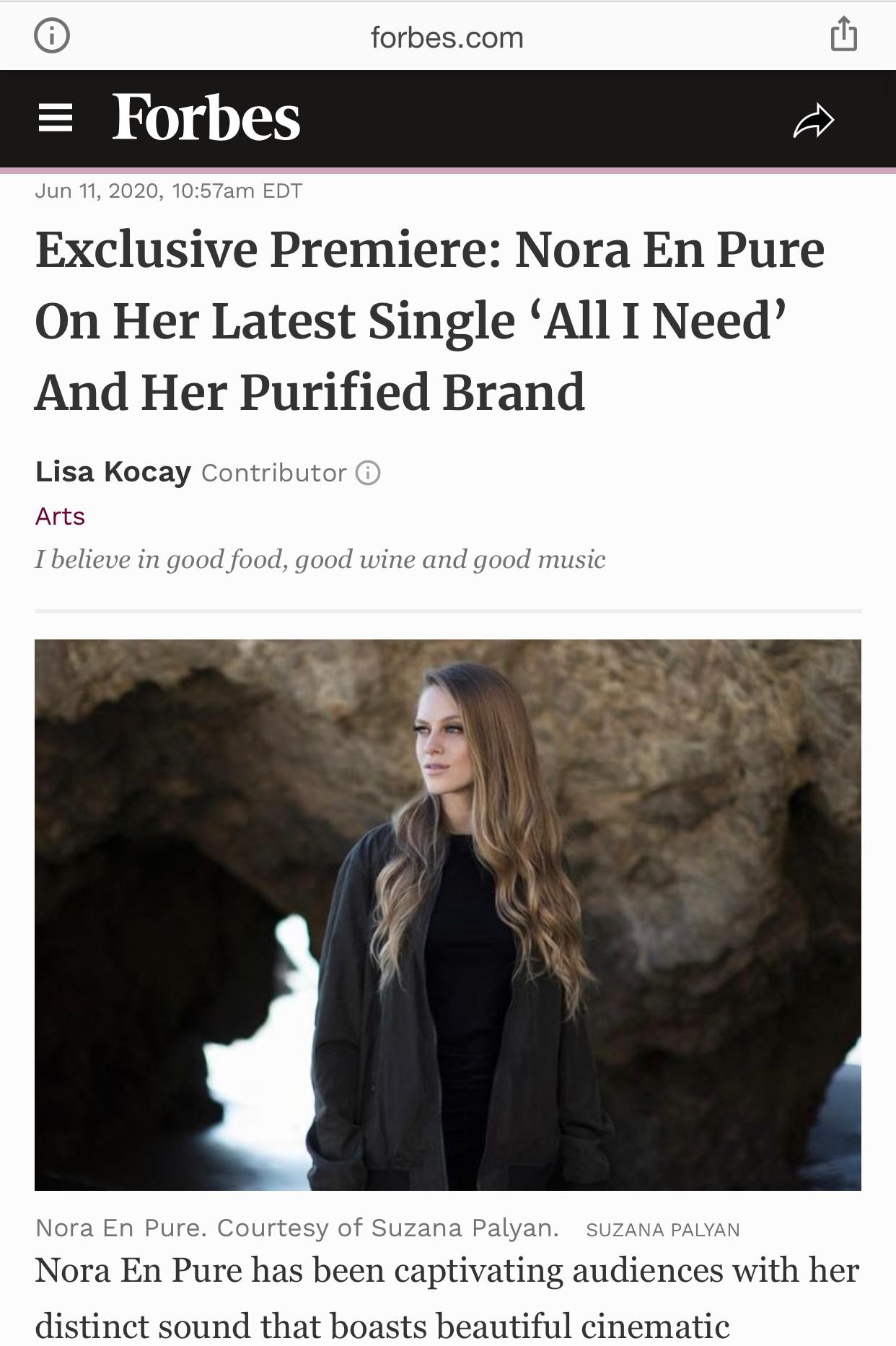 Frobes 2020 Nora En Pure