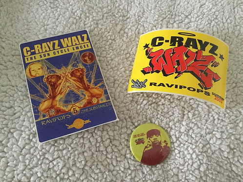 Limited Edition & Vintage C-Rayz Walz Stickers from the Definitive Jux Classic