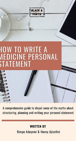 Medicine Personal Statement Guide