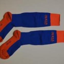 KSA kousen blauw-oranje