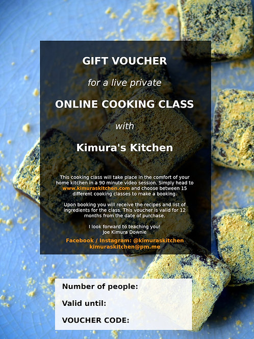 Cooking Class Gift Cards