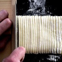 Cutting Udon Noodles