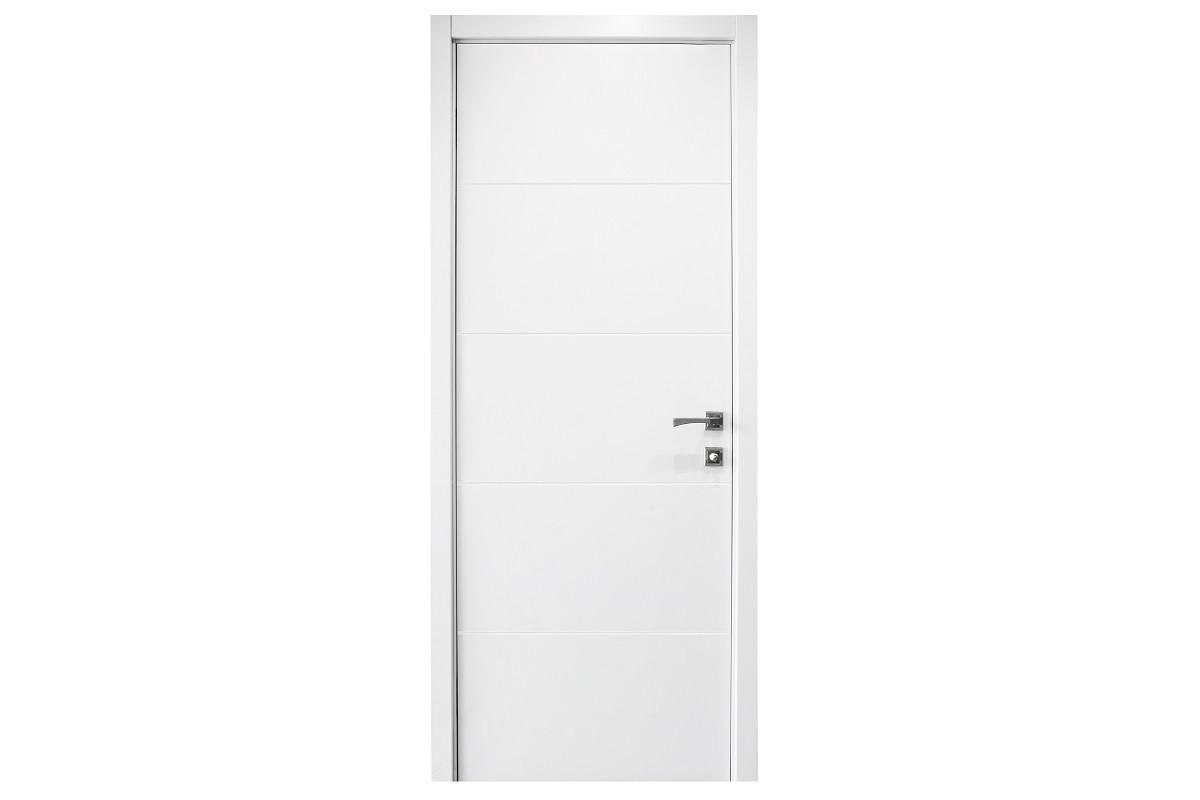 Grafiti in White, Enamel Solid Door