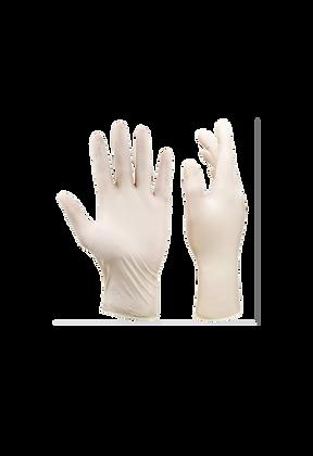 Pacco 100 guanti con polvere in lattice
