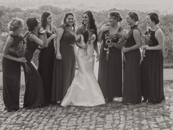 The Bride with all of her Ladies