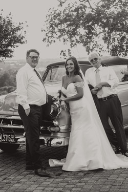 The Bride with the two men in her life