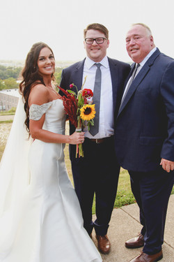 The Couple with the Father of the Groom