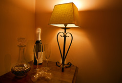 Drinks and bedside table