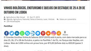 QC esteve em Lisboa no evento Grandes Escolhas. Outubro de 2019.