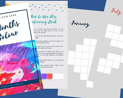 My Months in Colour - Printable PDF